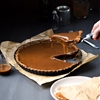 Salted Bourbon Caramel and Chocolate Nutella Tart