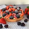 Berry tart with lychee cream