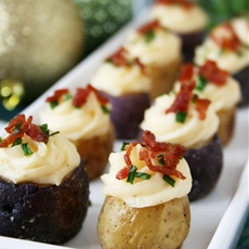 Twice Baked Mini Potato Appetizers