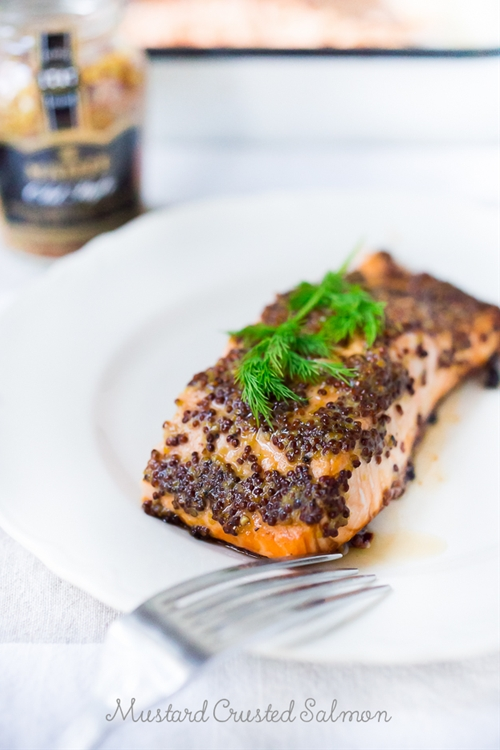 Simple Mustard Crusted Salmon