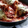 Skillet Mozzarella Stuffed Chicken Parmesan
