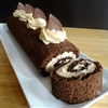 Chocolate Peanut Butter Cake Roll