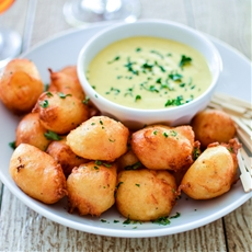 Manchego Cheese Fritters with Honey Mustard Ranch