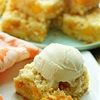 Homemade Peach Crumb Bars