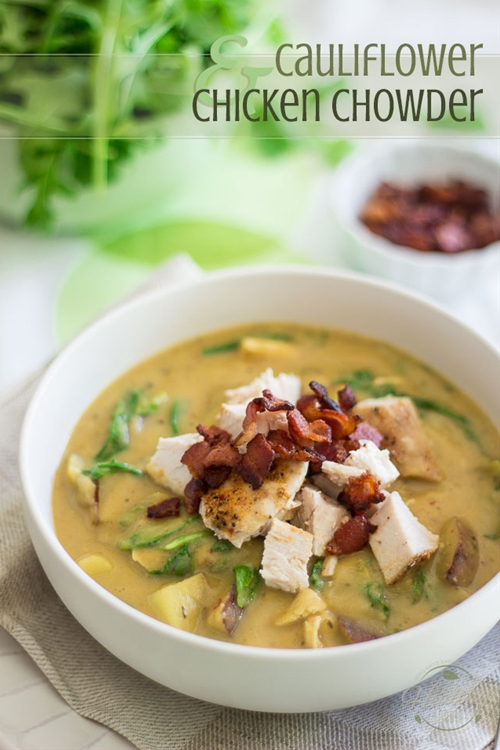 Cauliflower Chicken Chowder