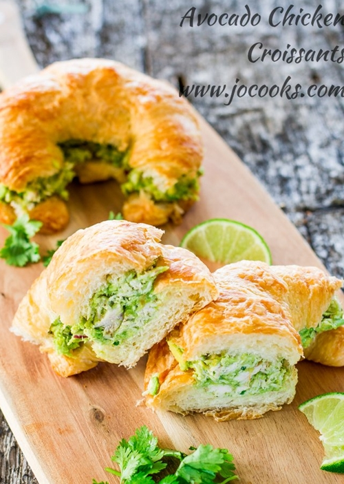 Avocado Chicken Croissants