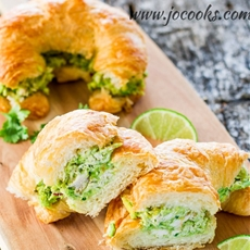 Avocado Chicken Croissants