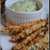 Baked Green Bean Fries with Basil Aioli