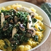 Spaghetti Squash with Chicken, Mushrooms, and Kale