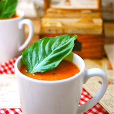 Roasted Tomato Basil Soup Made with Fresh Tomatoes