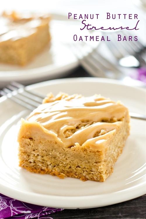 Peanut Butter Streusel Oatmeal Bars