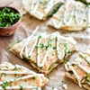 Chicken and Brie Quesadillas with Mango Chutney