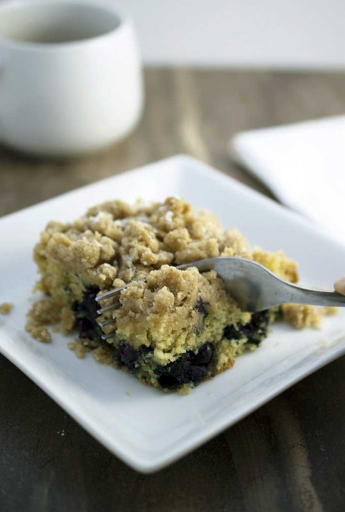 Blueberry and Sour Cream Coffee Cake