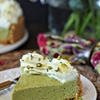 Pistachio Pie with Lemon Whipped Cream