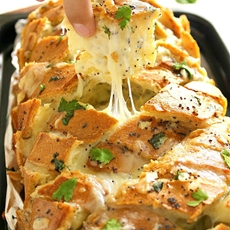 Stuffed Cheesy Bread on Crack
