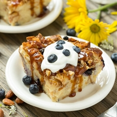 Blueberry Almond Bread Pudding