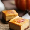 Chocolate Pumpkin Brulee Cheesecake Bars