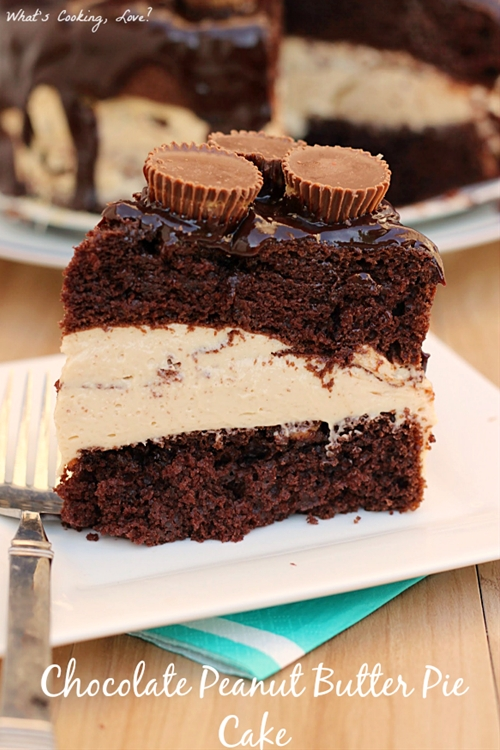 Chocolate Peanut Butter Pie Cake