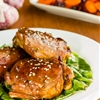 Honey glazed chicken with garlic.