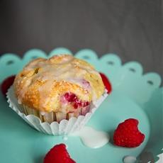 Lemon, Raspberry, White Chocolate Muffins