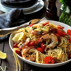 Prawn (Shrimp) and Lemon Pasta