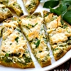 Roasted garlic & pesto chicken flatbreads
