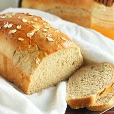 Whole Wheat Oatmeal Honey Bread