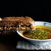 miso stewed short-ribs French-dip sandwich