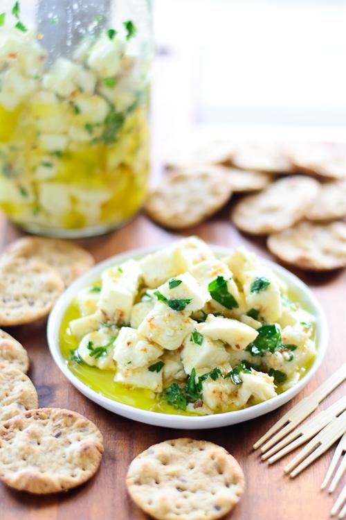 Marinated Mozzarella Bites