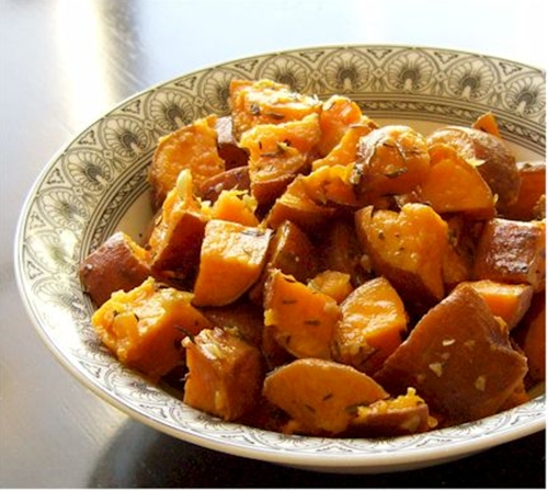 Sweet Potatoes with Thyme and Garlic