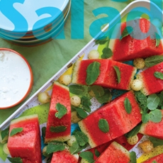 Watermelon wedge salad with feta buttermilk dressing