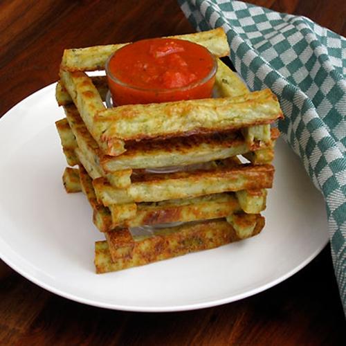 Finger Food- Baked Broccoli Polenta Sticks with Marinara Dipping Sauce