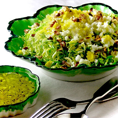 Shaved Brussels Sprouts Salad with Citrus Vinaigrette