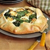 Rapini Galette with Goat Cheese & Red Pepper