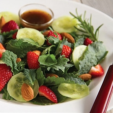 Baby kale strawberry salad