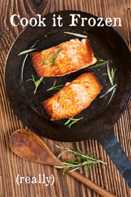 "Cook It Frozen"" Seared Alaskan Salmon recipe 