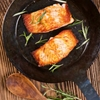 """Cook It Frozen"" Seared Alaskan Salmon"