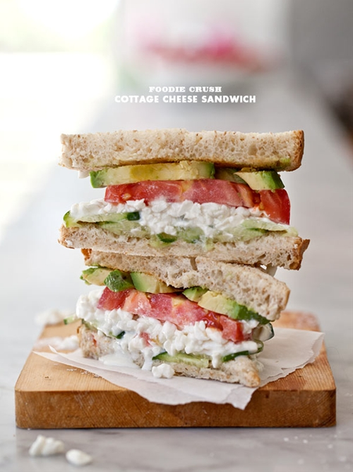 A Simple Cottage Cheese Sandwich