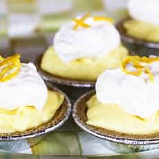 Lemon Cream No-Bake Mini-Cheesecakes