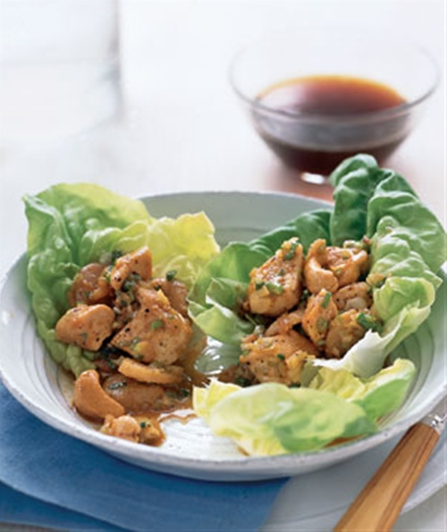 Chicken and Cashews in Lettuce Wraps | Real Simple Recipes