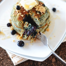 Vegan Blueberry Muffin Pancakes