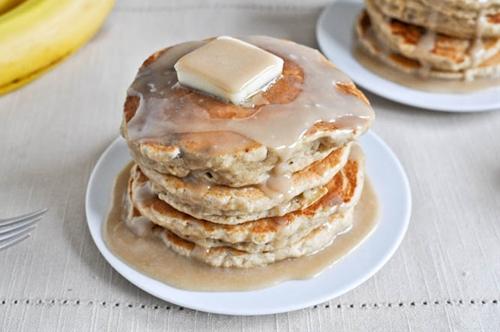 Whole Wheat Brown Sugar Banana Bread Pancakes