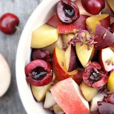 Stone Fruit Salad with Lemon-Lavender Syrup