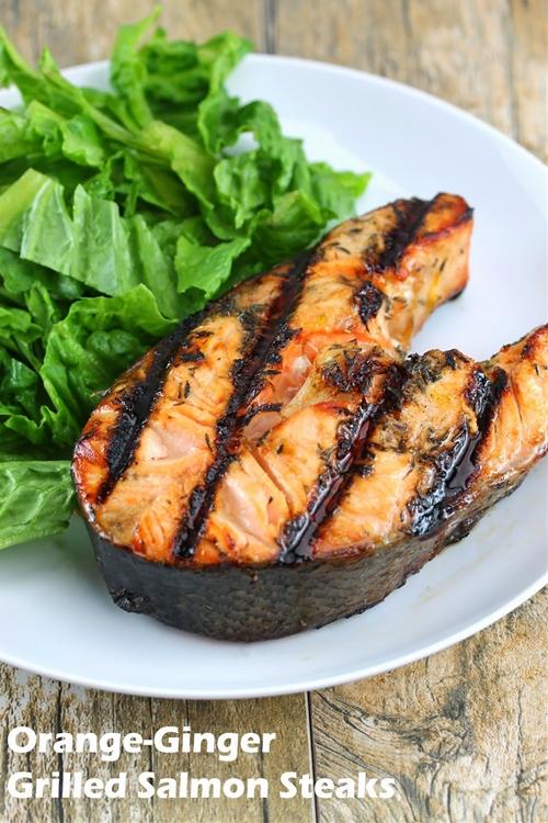 Orange-Ginger Grilled Salmon Steaks