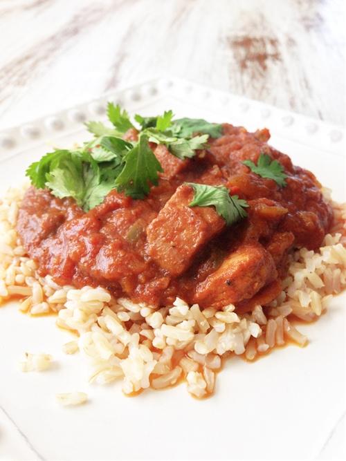 Skinny Crock Pot Chicken Tikka Masala