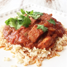 Skinny Crock Pot Chicken Tikka Masala