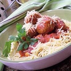Chicken Meatballs and Spaghetti