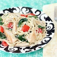 Chicken Florentine Spaghetti