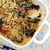 Baked Fontina and Kale with Sun-Dried Tomatoes