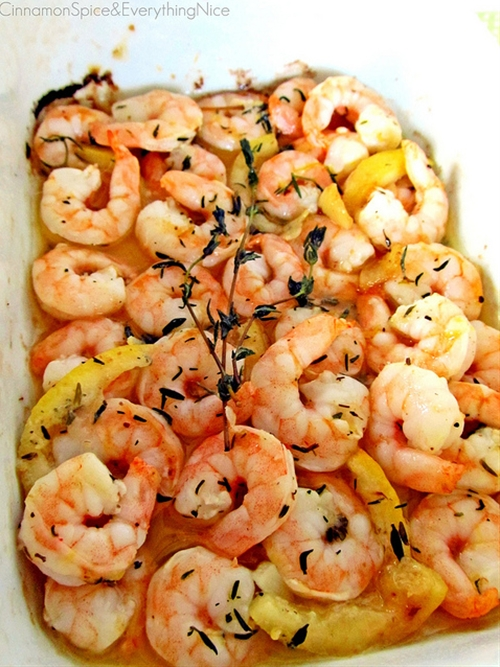 Roasted Lemon Garlic Herb Shrimp
